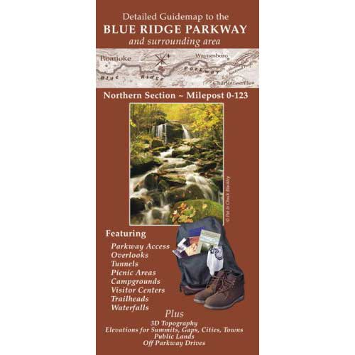 Detailed Guidemap to the Blue Ridge Parkway: Northern Section