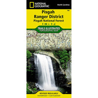 Pisgah Ranger District Trails Illustrated Map