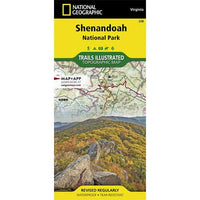 Shenandoah National Park Trails Illustrated Map
