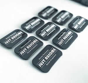Large Rectangular Logo Badges