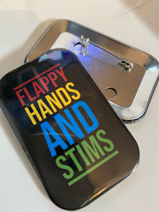 Flappy Hands and Stims Rectangular Badges
