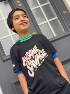 New Ausome Savage Black TEE