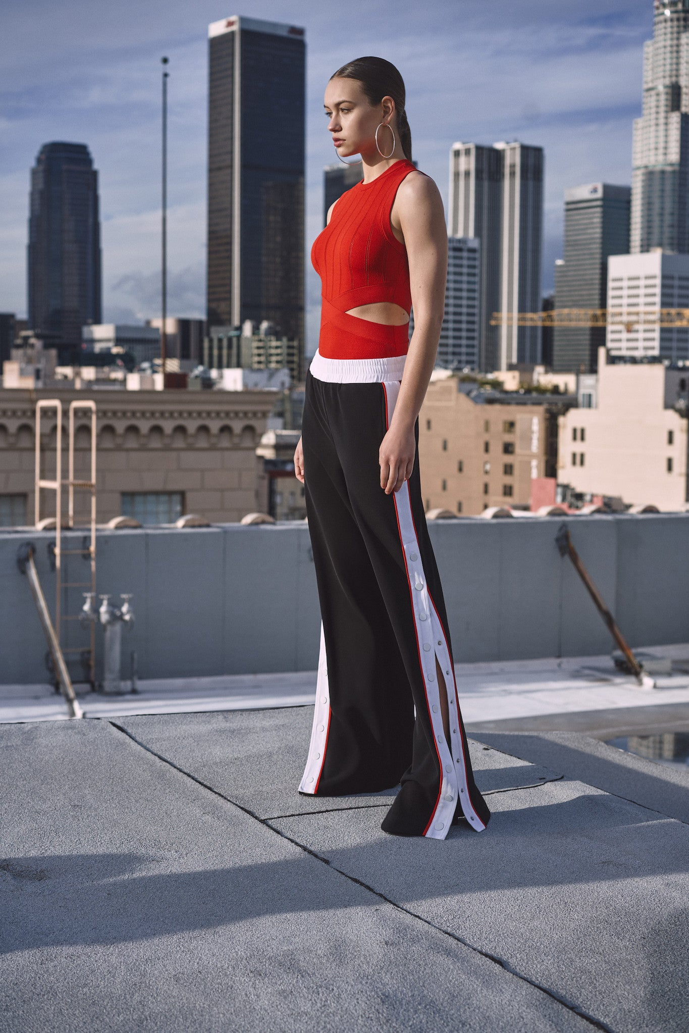 SNAP TRACK PANT PANTS by KENDALL + KYLIE