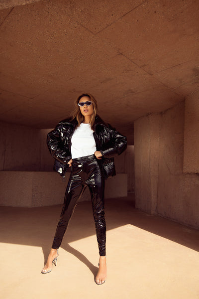 LIQUID FAUX LEATHER PANT