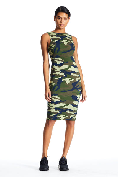 CAMO SLEEVELESS DRESS