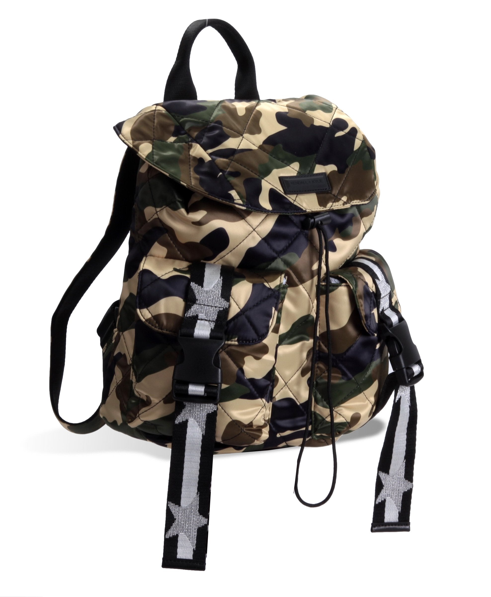 ASHLEY CAMO QUILTED BACKPACK