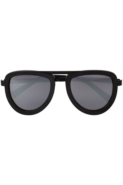 JONES BLACK ACETATE AND SILVER MIRROR SUNGLASSES EYEWEAR by KENDALL + KYLIE