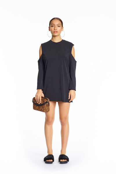 CUTAWAY LONG SLEEVE T-SHIRT DRESS DRESSES by KENDALL + KYLIE