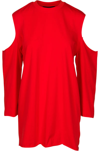 CUTAWAY LONG SLEEVE DRESS