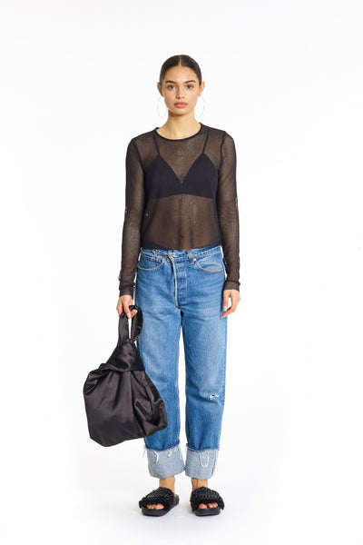 MESH LONG SLEEVE TOP TOPS by KENDALL + KYLIE