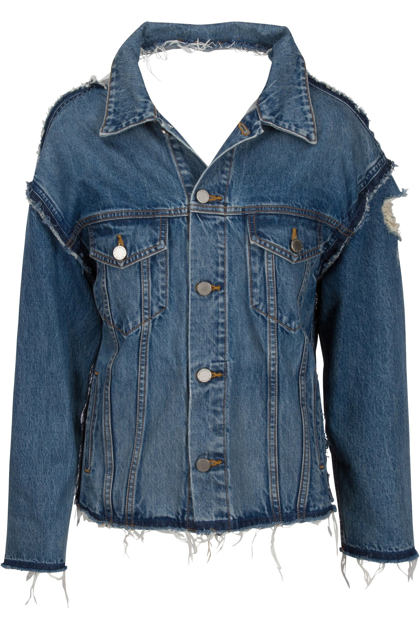 RECONSTRUCTED VINTAGE JACKET JACKETS by KENDALL + KYLIE