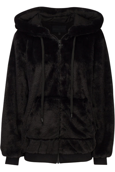 FAUX FUR ZIP-UP HOODIE JACKETS by KENDALL + KYLIE