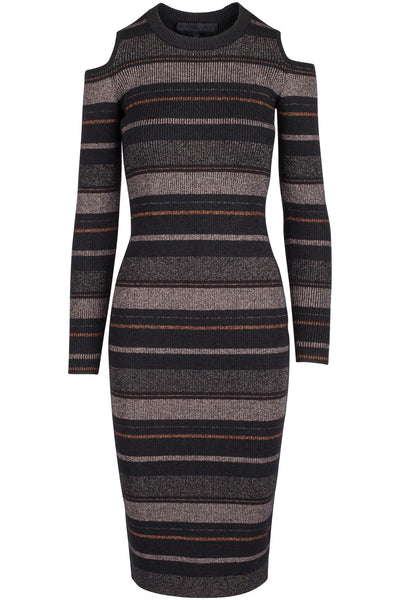 LUREX STRIPE DRESS