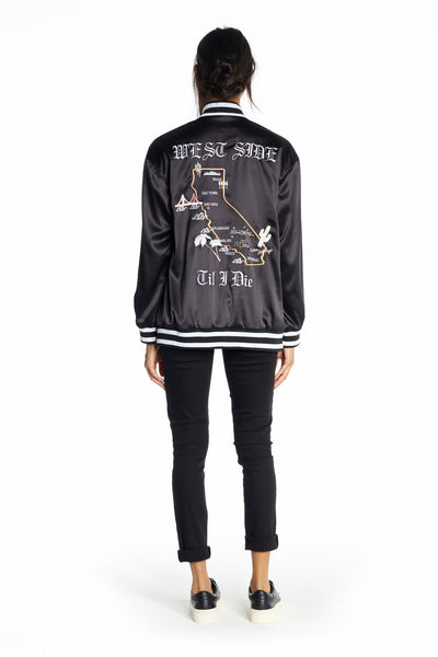 EMBROIDERED SOUVENIR JACKET JACKETS by KENDALL + KYLIE