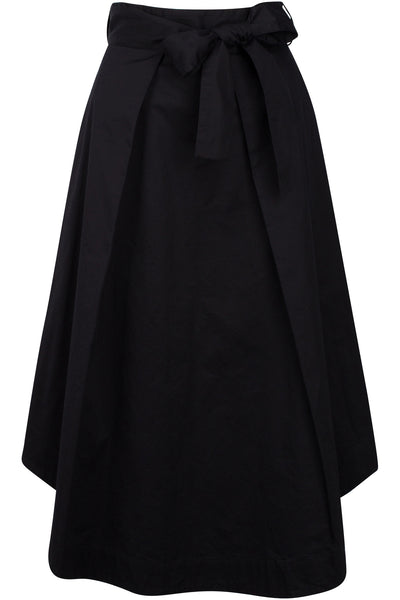 A-LINE SWING SKIRT BLACK