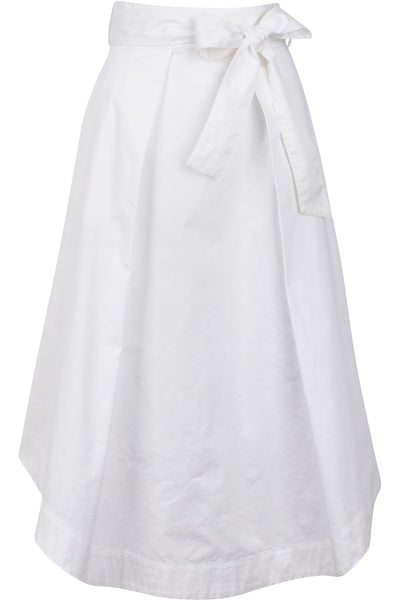A-LINE SWING SKIRT BRIGHT WHITE
