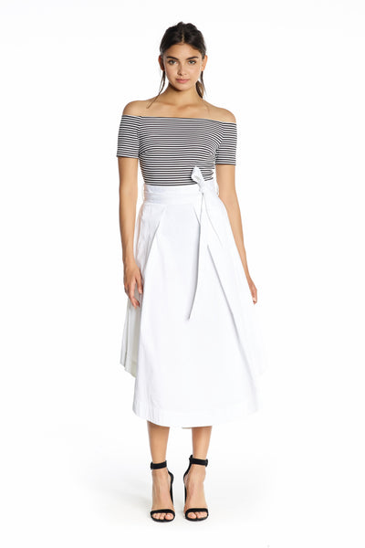 A-LINE Swing Skirt in White by Kendall and Kylie