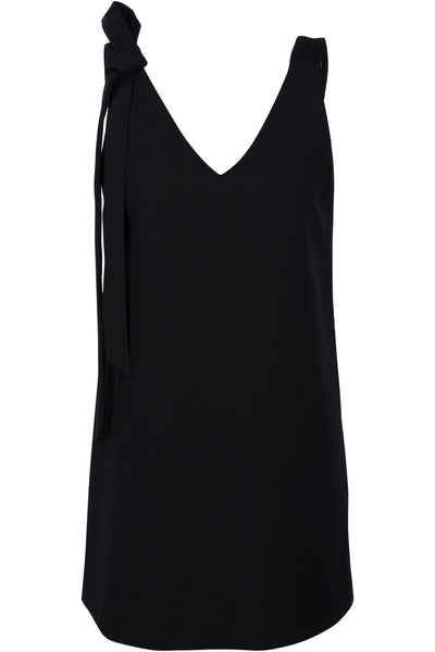DOUBLE V-NECK DRESS BLACK