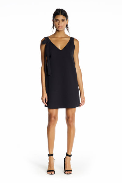 DOUBLE V-NECK DRESS BLACK DRESSES by KENDALL + KYLIE