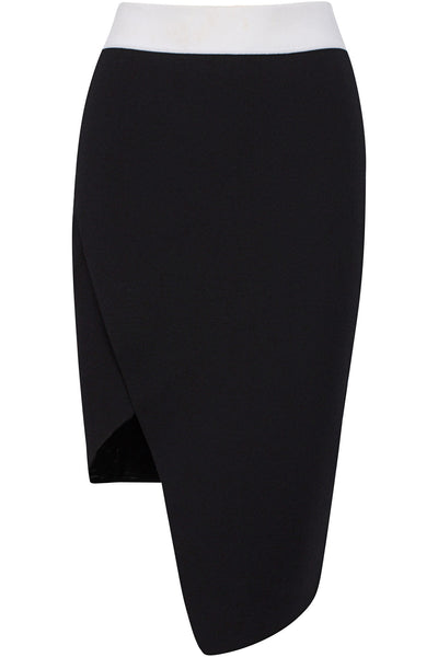 ASYMMETRIC OVERLAP SKIRT