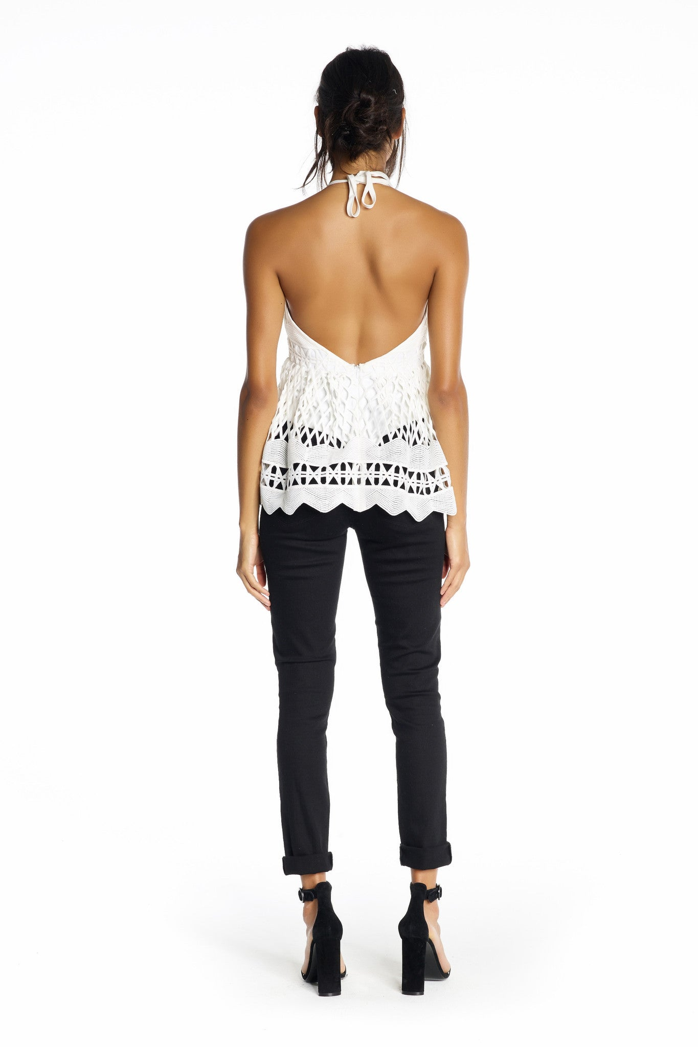 BABY DOLL CROCHET TOP TOPS by KENDALL + KYLIE