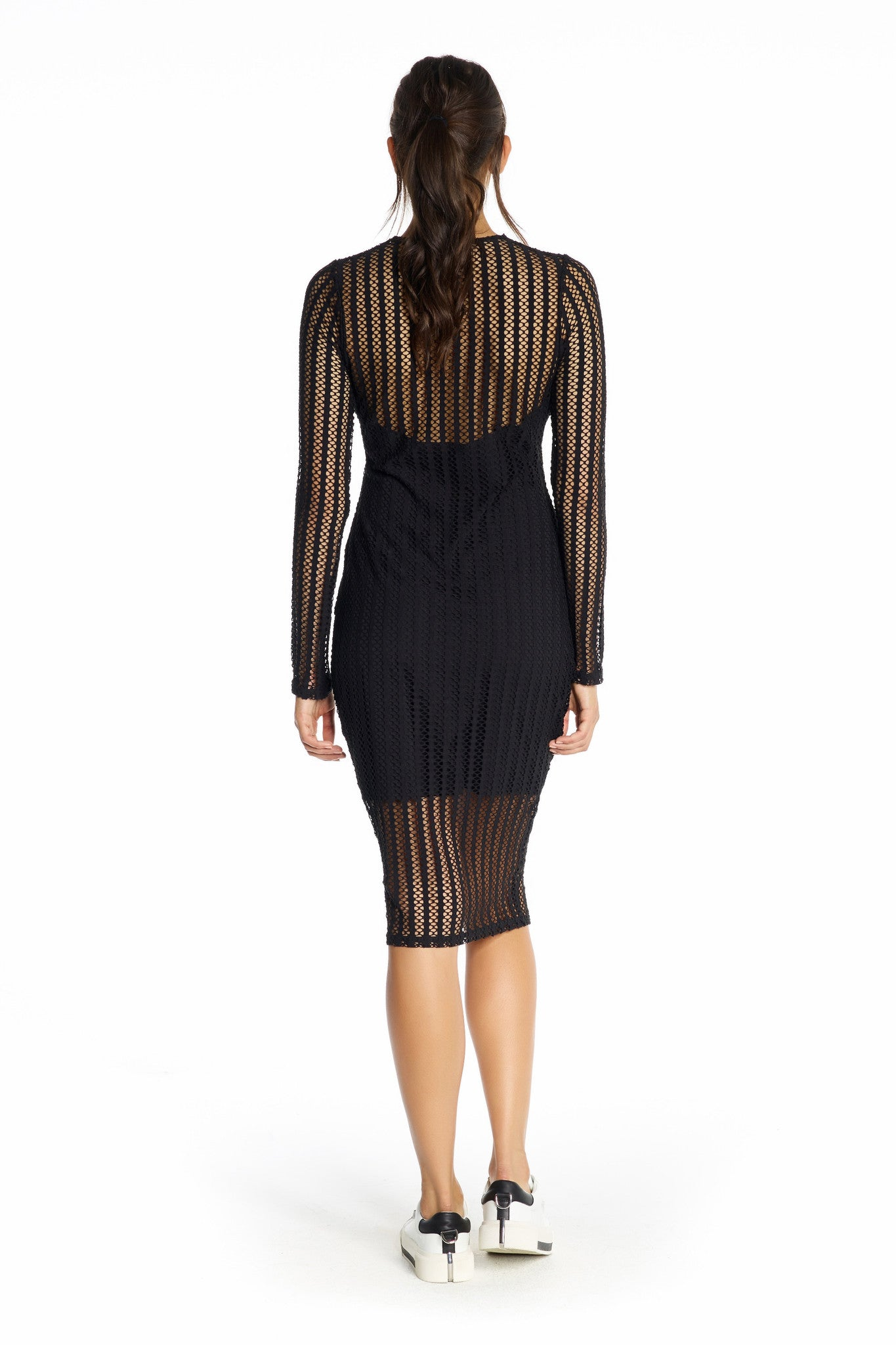 LATTICE JERSEY LONG SLEEVE DRESS DRESSES by KENDALL + KYLIE