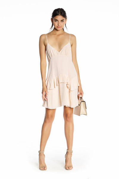 RUFFLE SLIP DRESS