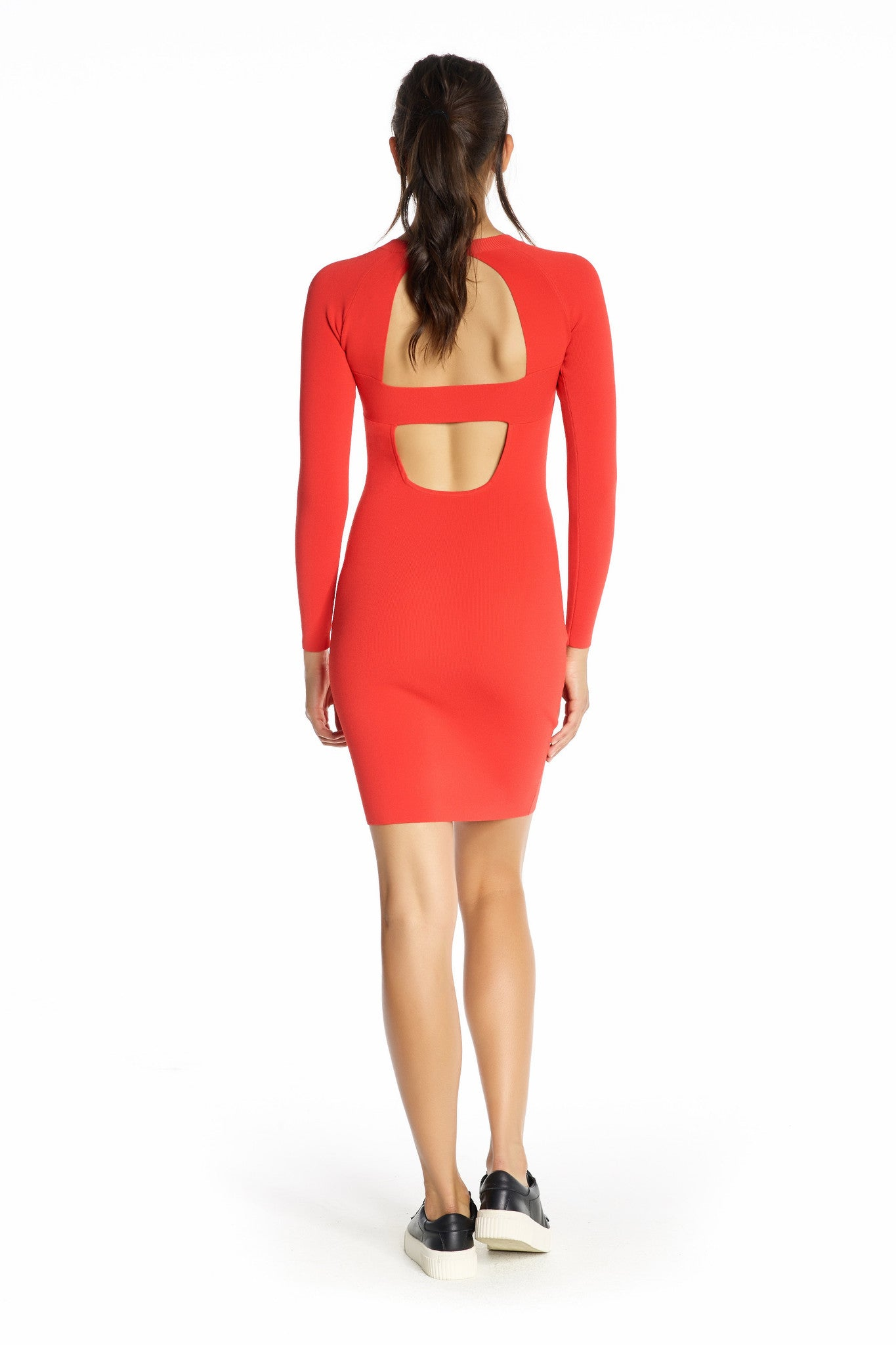 BANDED BACK LONG SLEEVE DRESS DRESSES by KENDALL + KYLIE