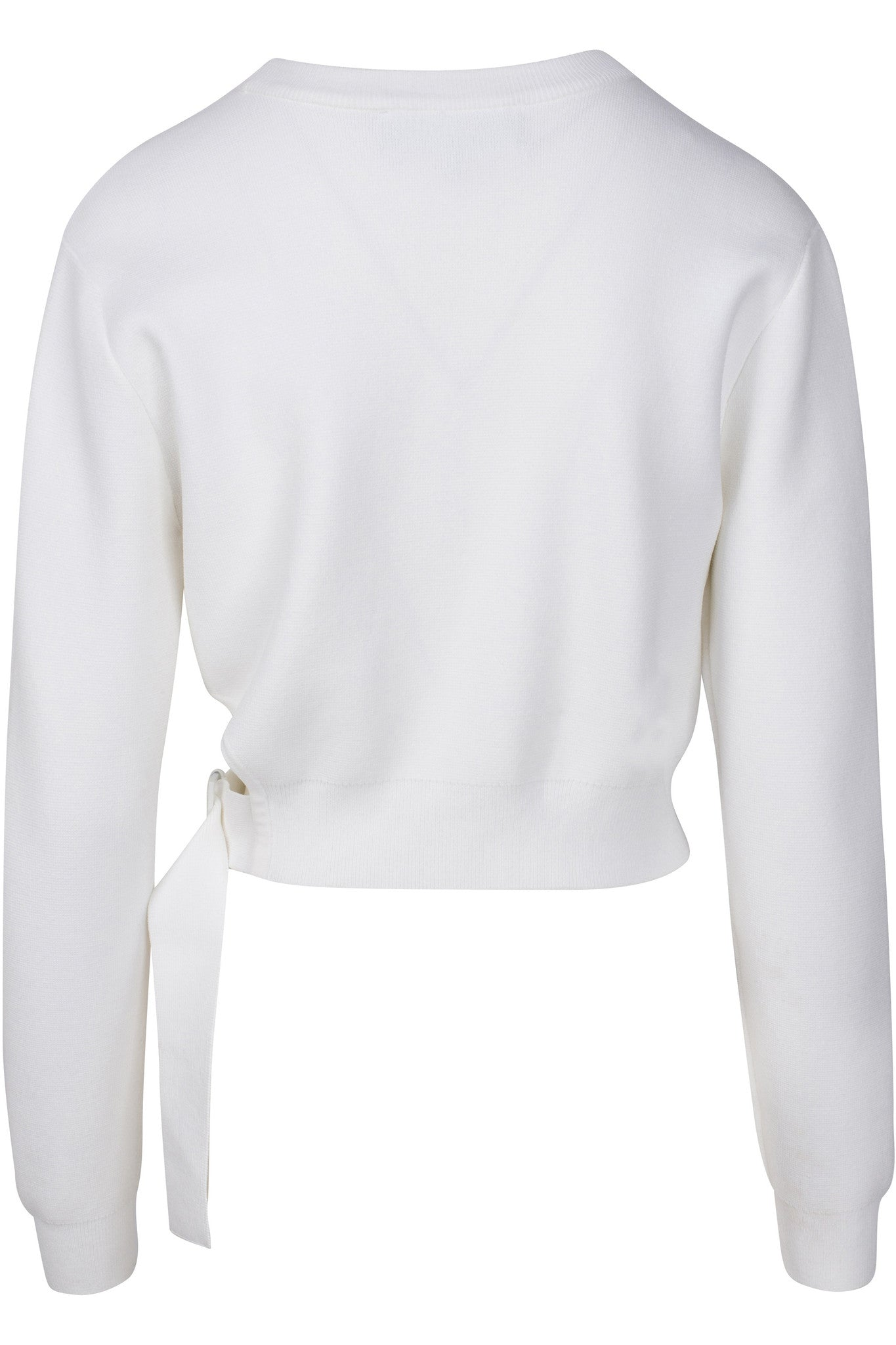 SIDE BUCKLE LONG SLEEVE TOP WHITE