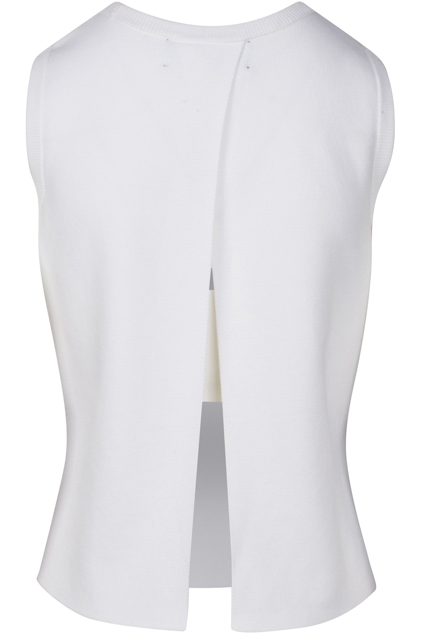 CONTRAST OPEN-BACK TOP WHITE