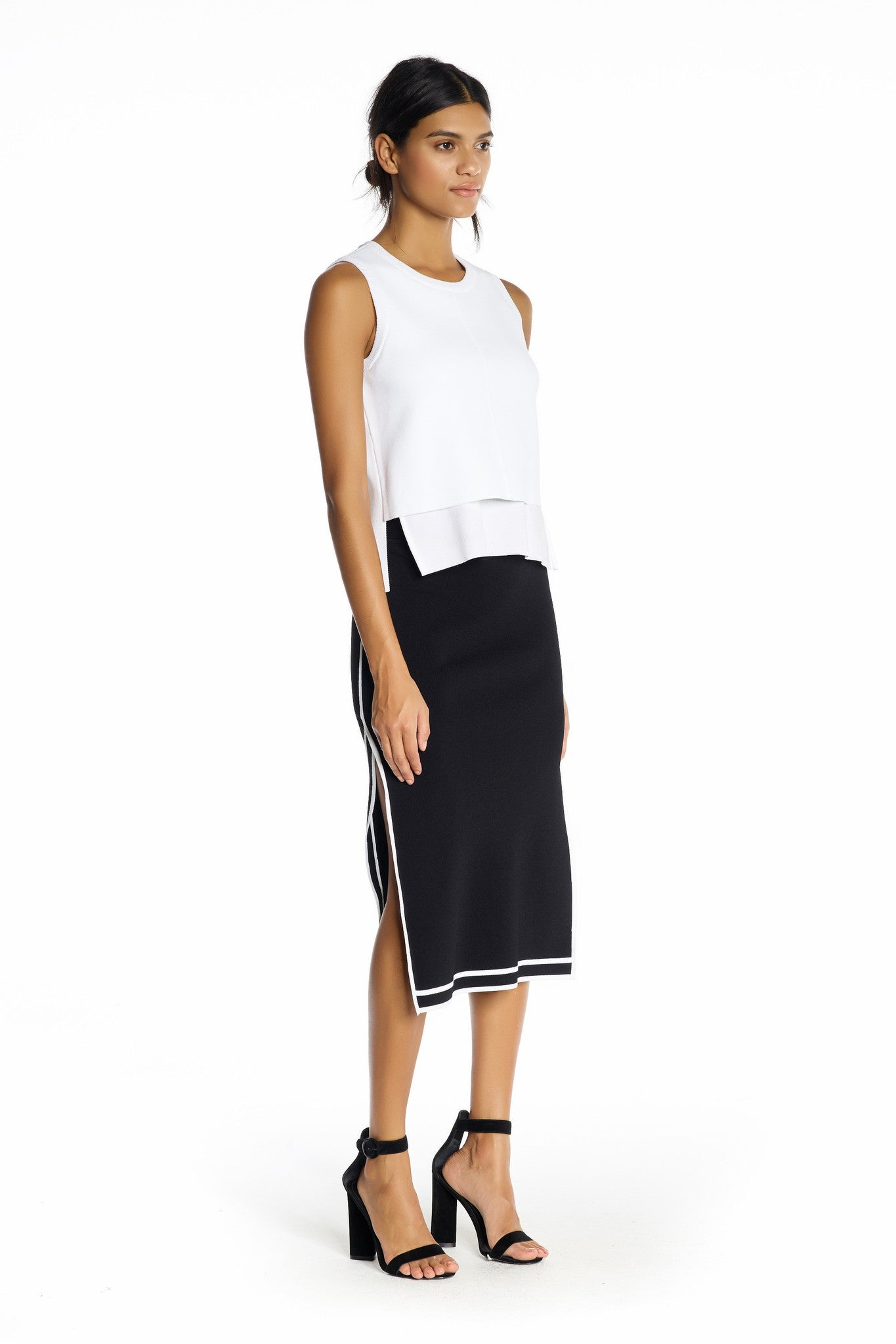 SPORTS BORDER SKIRT BLACK SKIRTS by KENDALL + KYLIE