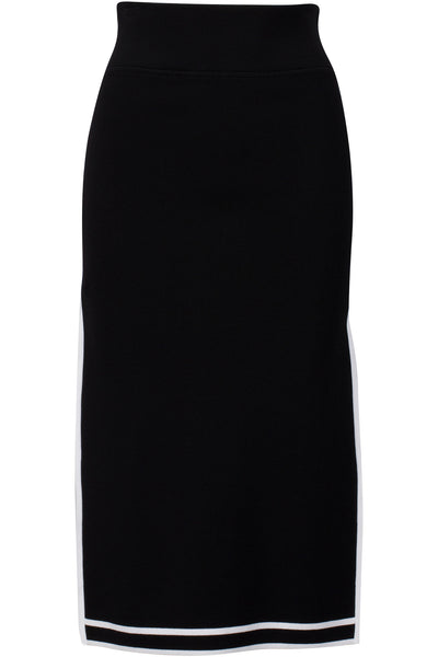 SPORTS BORDER SKIRT BLACK