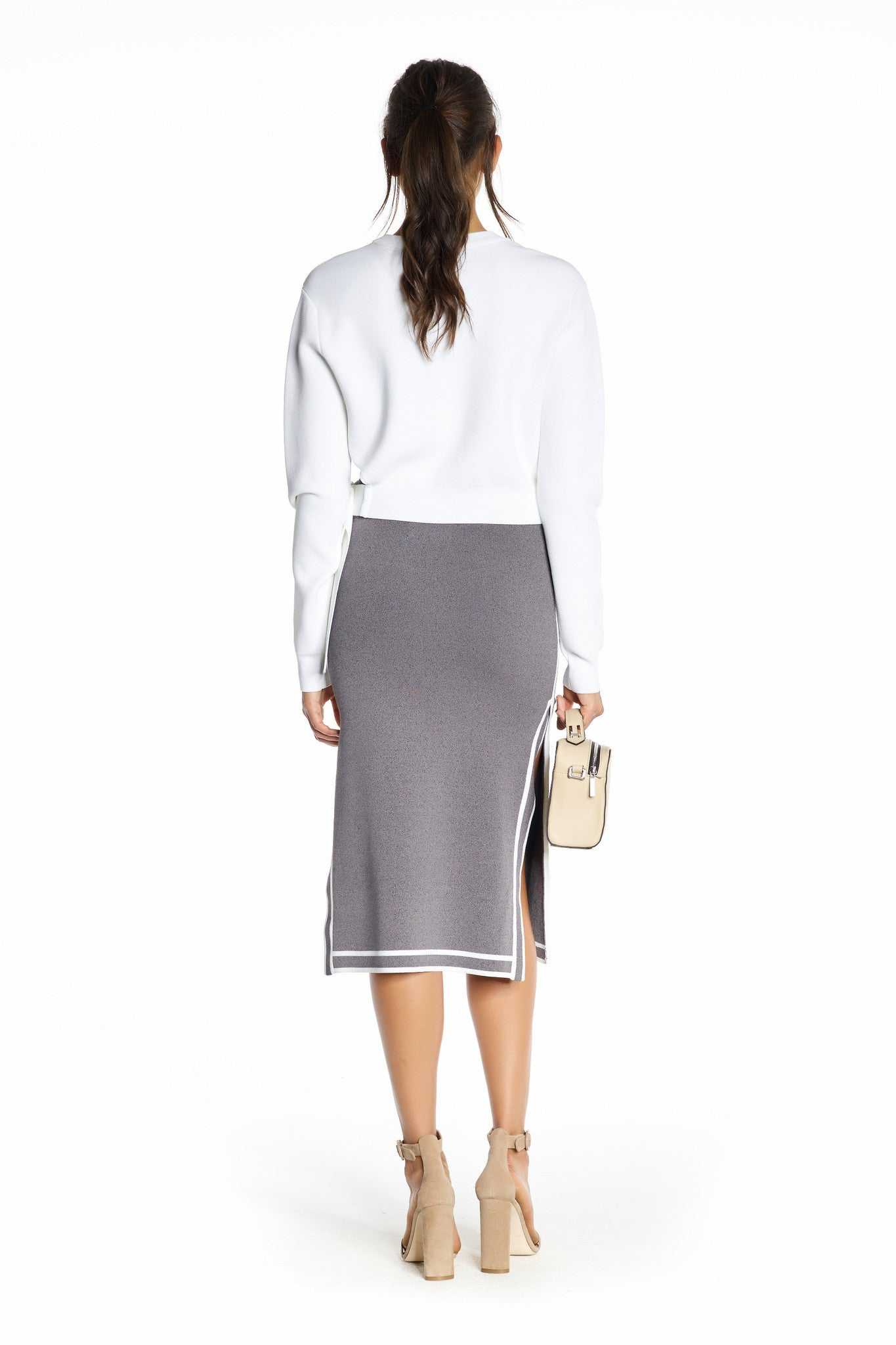 SPORTS BORDER SKIRT GREY SKIRTS by KENDALL + KYLIE