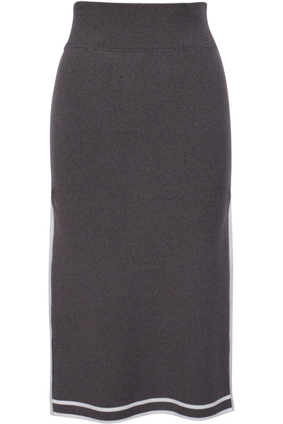 SPORTS BORDER SKIRT GREY