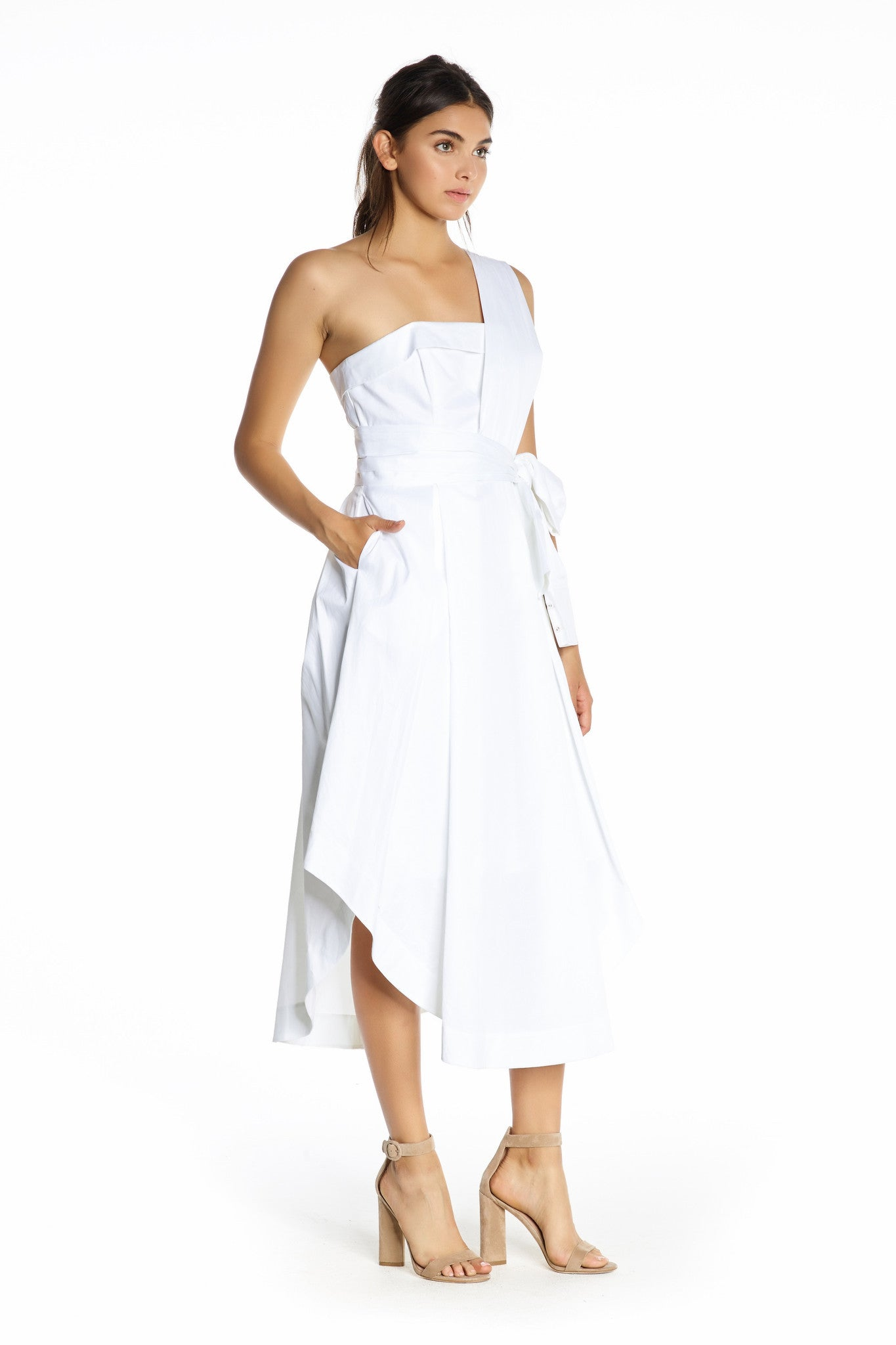 SLEEVE WRAP DRESS WHITE DRESSES by KENDALL + KYLIE