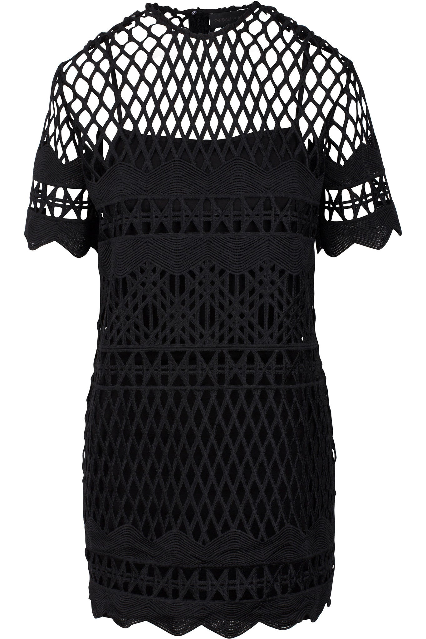 CROCHET A-LINE DRESS BLACK DRESSES by KENDALL + KYLIE