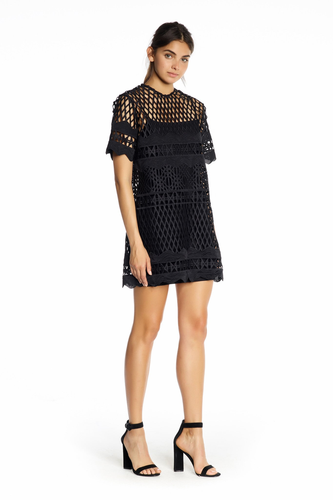 CROCHET A-LINE DRESS DRESSES by KENDALL + KYLIE