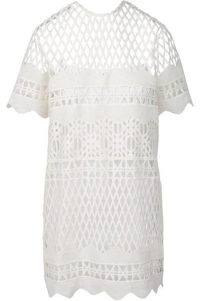CROCHET A-LINE DRESS WHITE