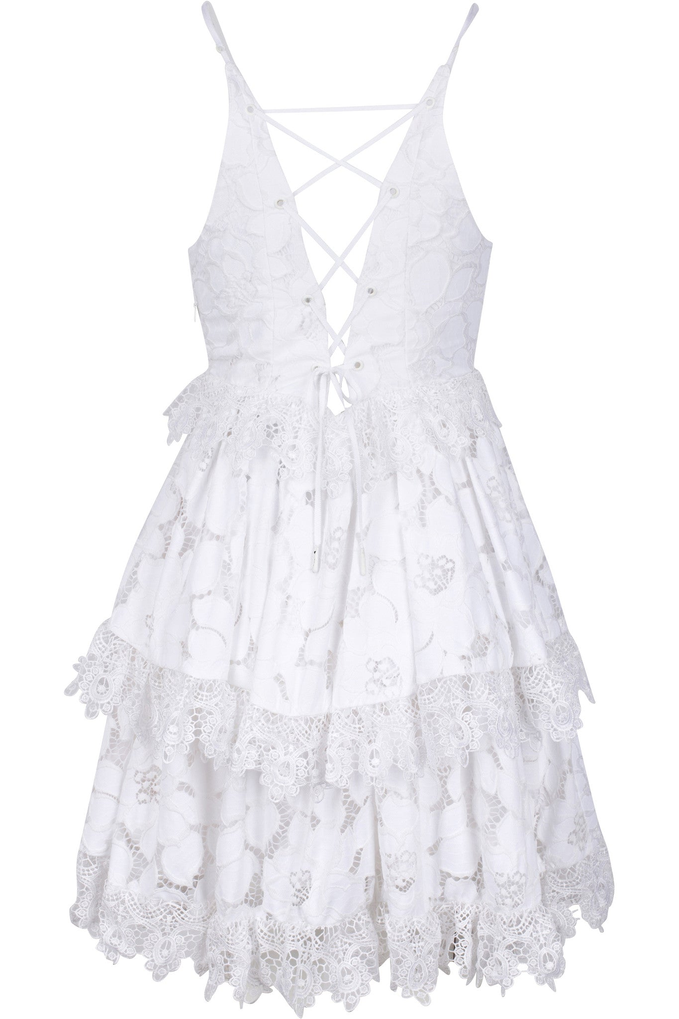 LACE BABYDOLL DRESS WHITE – KENDALL KYLIE