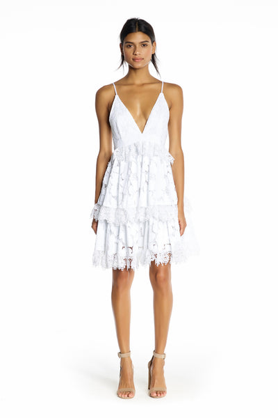 LACE BABYDOLL DRESS WHITE DRESSES by KENDALL + KYLIE