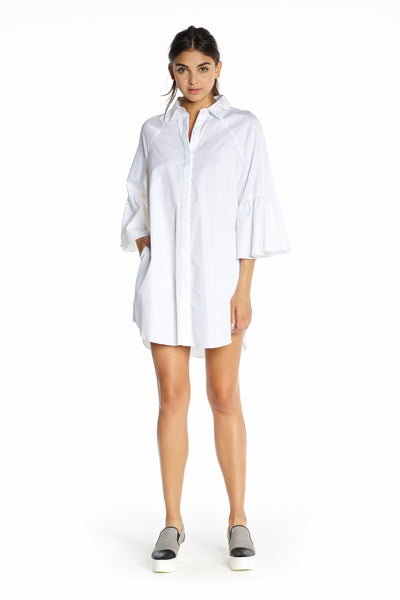 BELL SLEEVE SHIRT DRESS DRESSES by KENDALL + KYLIE