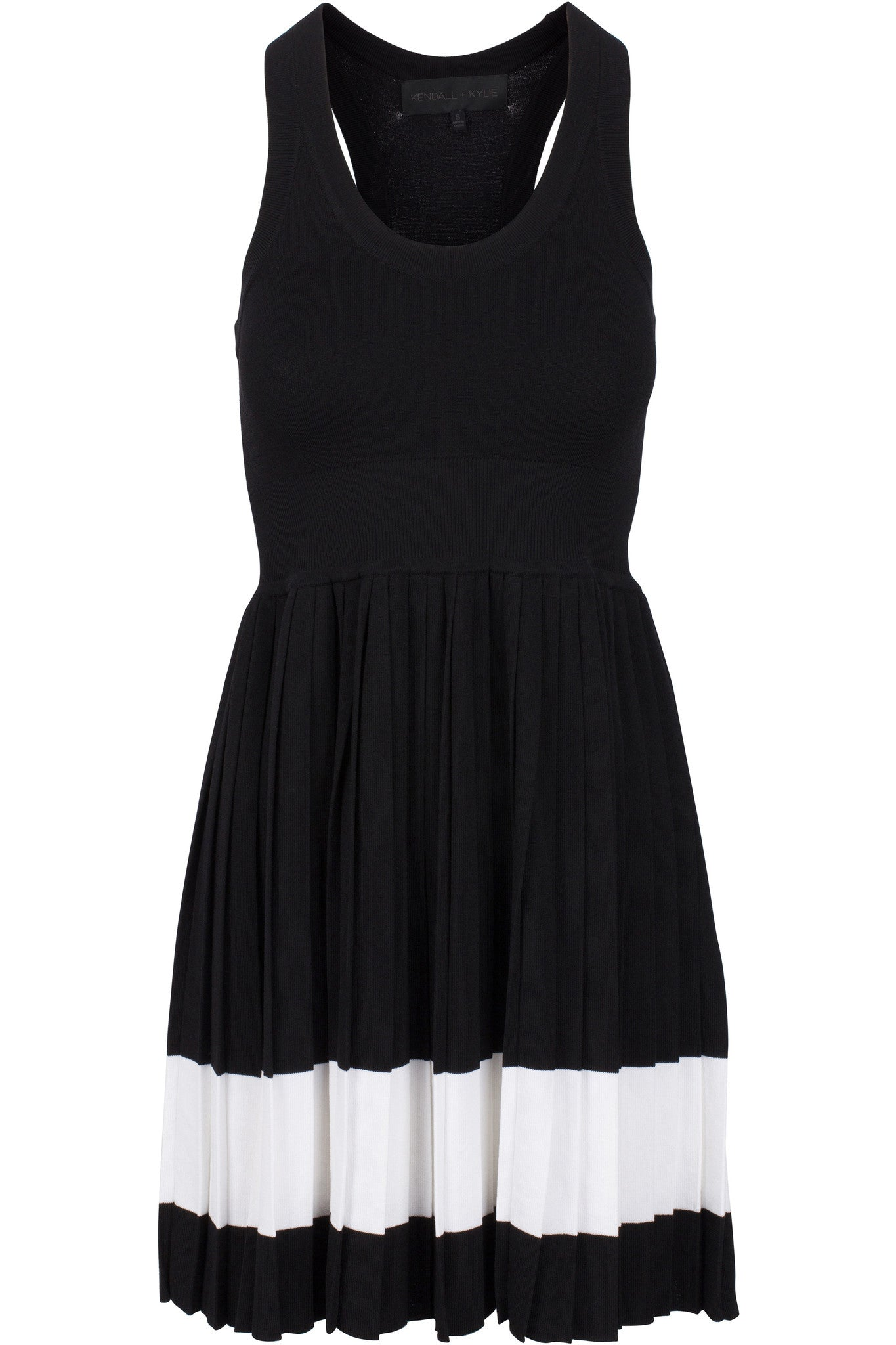 RACER BACK PLEATED DRESS DRESSES by KENDALL + KYLIE