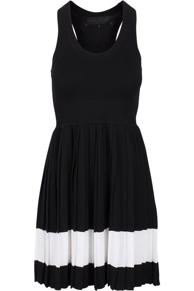 RACER BACK PLEATED DRESS
