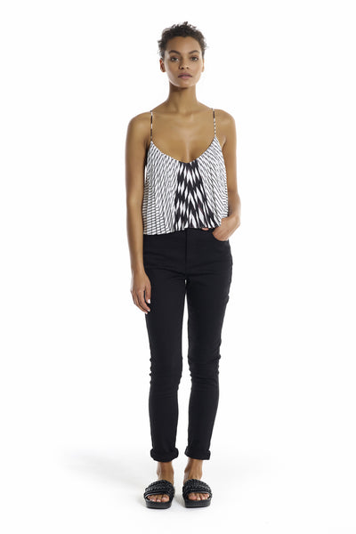 STAR PLEATED CAMI TOPS by KENDALL + KYLIE