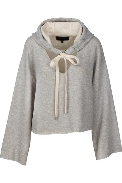 COTTON TERRY HOODED SWEATSHIRT