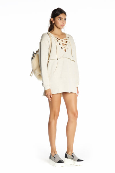 LONG SLEEVE SWEATSHIRT DRESS DRESSES by KENDALL + KYLIE