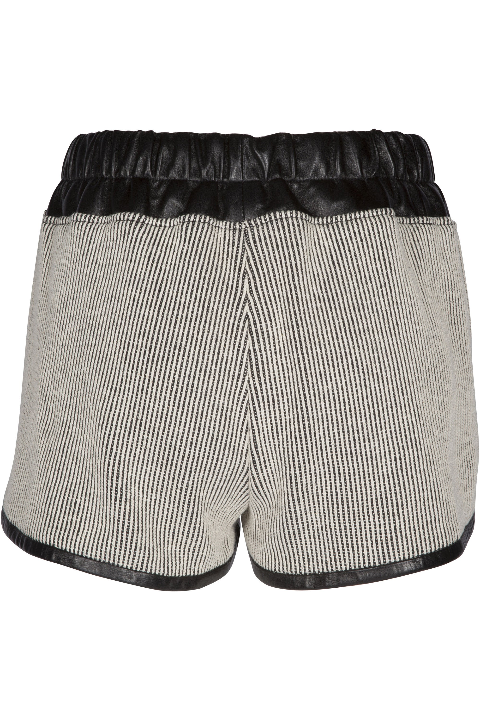 LEATHER COMBO SHORTS BOTTOMS by KENDALL + KYLIE