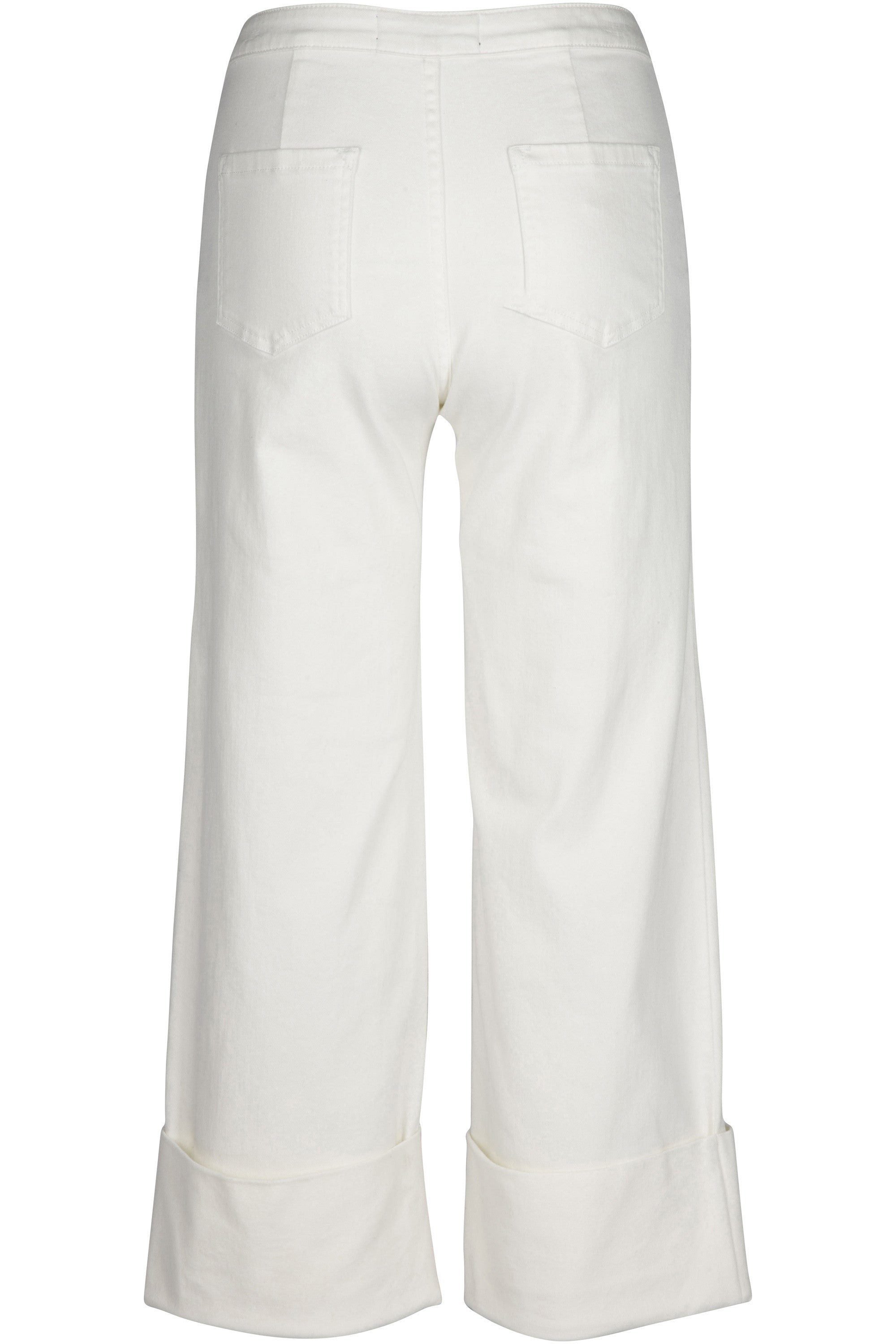 WHITE DENIM CUFF JEAN PANTS by KENDALL + KYLIE