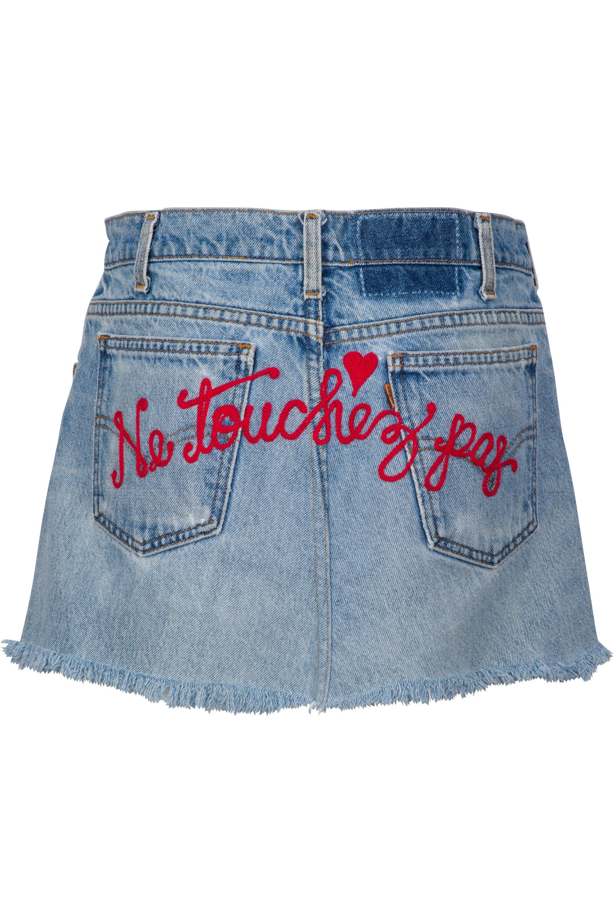 DON'T TOUCH DENIM SKIRT BOTTOMS by KENDALL + KYLIE