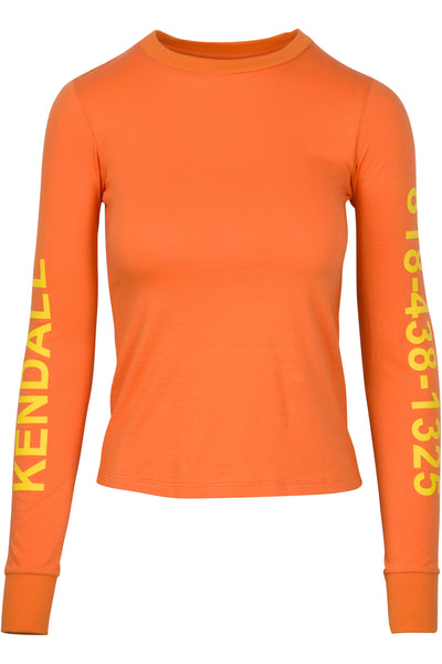CALL ME KENDALL LONG SLEEVE SHRUNKEN TEE TOPS by KENDALL + KYLIE
